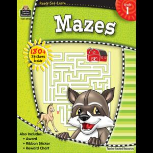 TCR5961 Ready-Set-Learn: Mazes Grade 1 Image