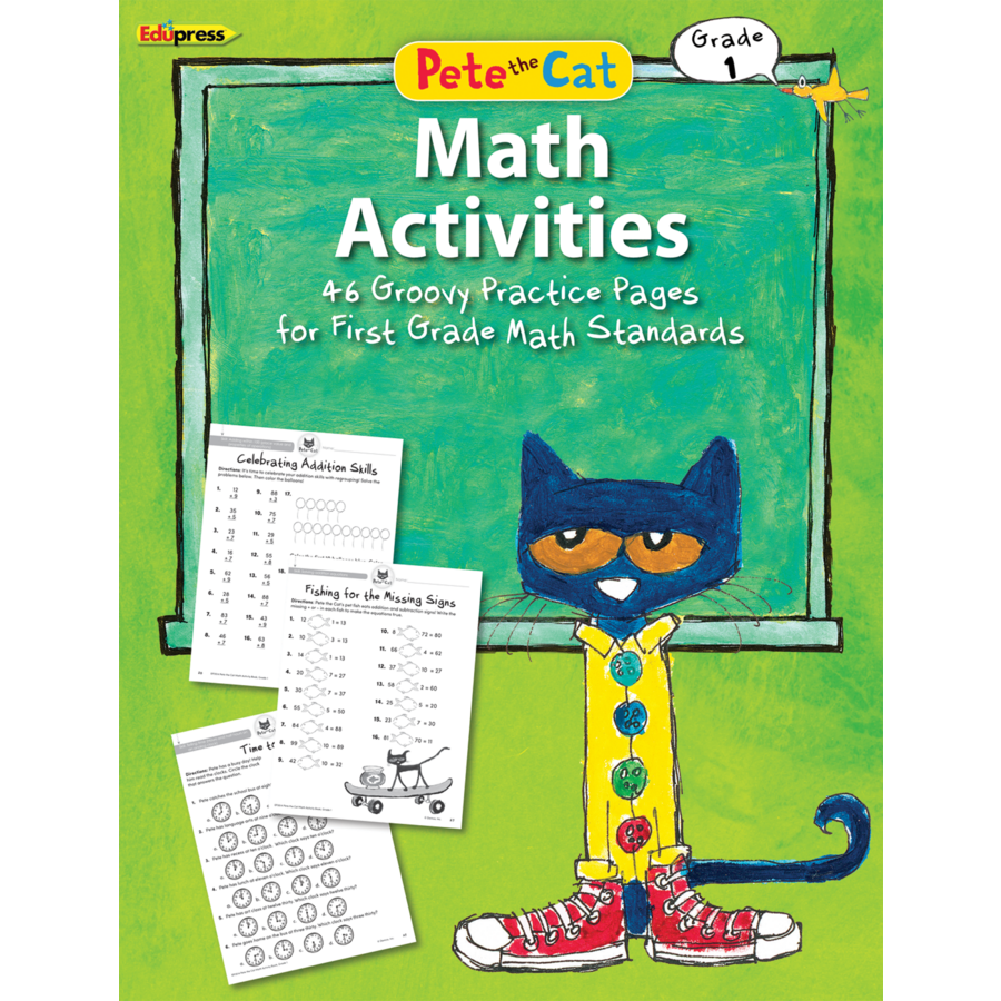 Workbooks 1st grade math workbooks : Pete the Cat Math Workbook Grade 1 - TCR63514 | Teacher Created ...
