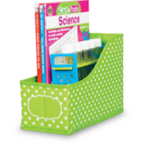 Lime Polka Dots Book Bin