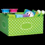 Lime Polka Dots Small Storage Bin