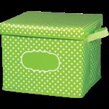 Lime Polka Dots Storage Box
