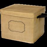 Burlap Storage Box