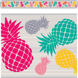 Tropical Punch Pineapples Straight Border Trim