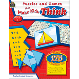 Puzzles and Games that Make Kids Think Grade 1