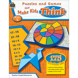 Puzzles and Games that Make Kids Think Grade 4