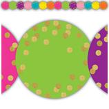 Confetti Circles Die-Cut Border Trim
