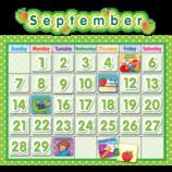 Polka Dot School Calendar Bulletin Board