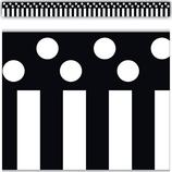 Black Stripes and Polka Dots Straight Border Trim