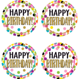 Confetti Happy Birthday Wear 'Em Badges