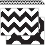Black & White Chevrons Double-Sided Border
