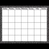 Black & White Crazy Circles Calendar Chart