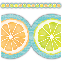 Lemon Zest Citrus Slices Die-Cut Border Trim