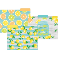 Lemon Zest File Folders