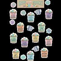 Rustic Bloom Grow Your Mindset Mini Bulletin Board