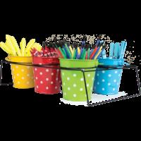 6 Buckets & Caddy Set