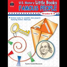 TCR3260 U.S. History Little Books: Famous People