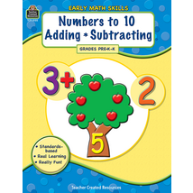 TCR8105 Early Math Skills: Numbers to 10-Adding-Subtracting