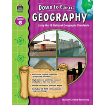 TCR9276 Down to Earth Geography, Grade 6