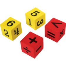 Foam Numbers & Operations Dice