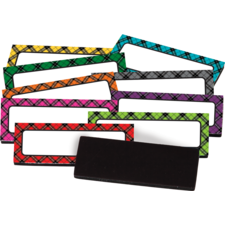 Plaid Magnetic Labels
