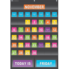 Black Calendar Pocket Chart