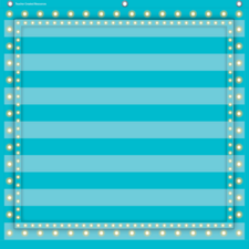 Light Blue Marquee 7 Pocket Chart