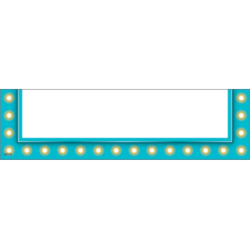 Light Blue Marquee Magnetic Pockets - Small