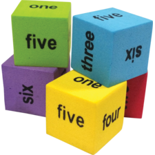 Colorful Number Word Dice