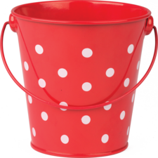 Red Polka Dots Bucket