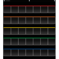 Black Storage Pocket Chart