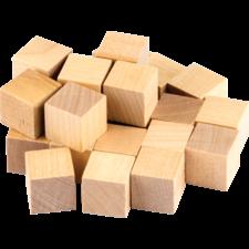 STEM Basics: Wooden Cubes - 25 Count