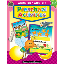 Preschool Activities Write-On Wipe-Off Book