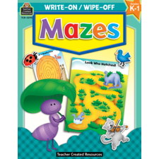 Mazes Write-On Wipe-Off Book
