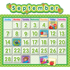 Polka Dot School Calendar Bulletin Board