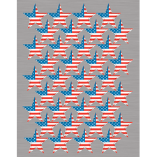 Large Flag Stars Foil Stickers