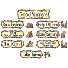Good Manners Mini Bulletin Board from Susan Winget