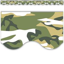 Camouflage Scalloped Border Trim