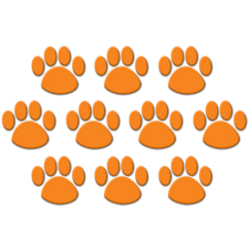 Orange Paw Prints Accents