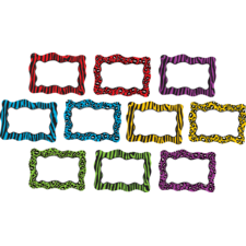Colorful Animal Print Blank Cards Accents