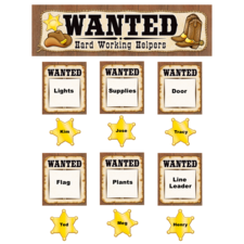 Wanted: Western Helpers Mini Bulletin Board