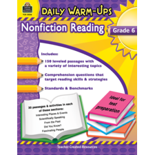 Daily Warm-Ups: Nonfiction Reading Grade 6