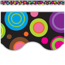 Colorful Circles Scalloped Border Trim