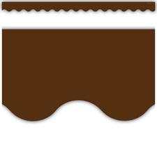 Chocolate Scalloped Border Trim
