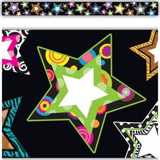 Fancy Stars Straight Border Trim