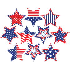 Patriotic Fancy Stars Accents