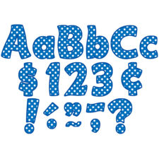 """Blue Polka Dots Funtastic 4"""" Letters Combo Pack"""