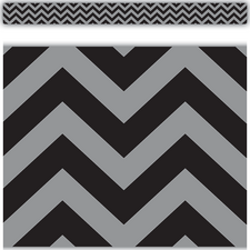 Black Chevron Straight Border Trim