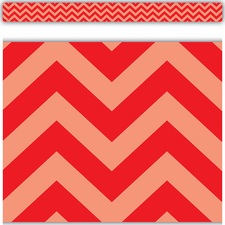 Red Chevron Straight Border Trim