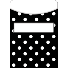 Black Polka Dots Library Pockets