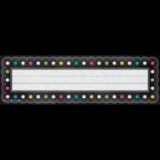Chalkboard Brights Flat Name Plates
